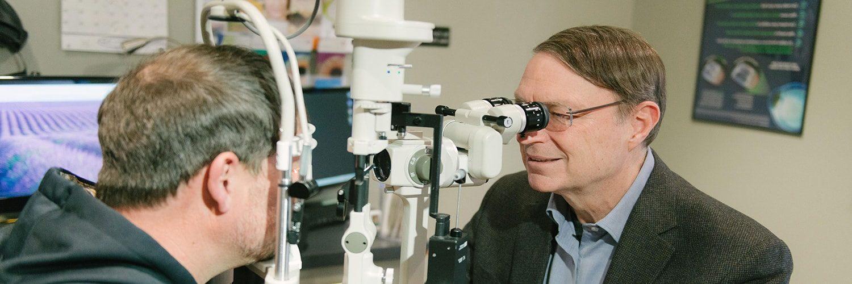 Dr. Beffa examining a patient