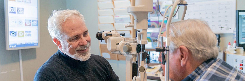 Dr. Fitz examining a patient